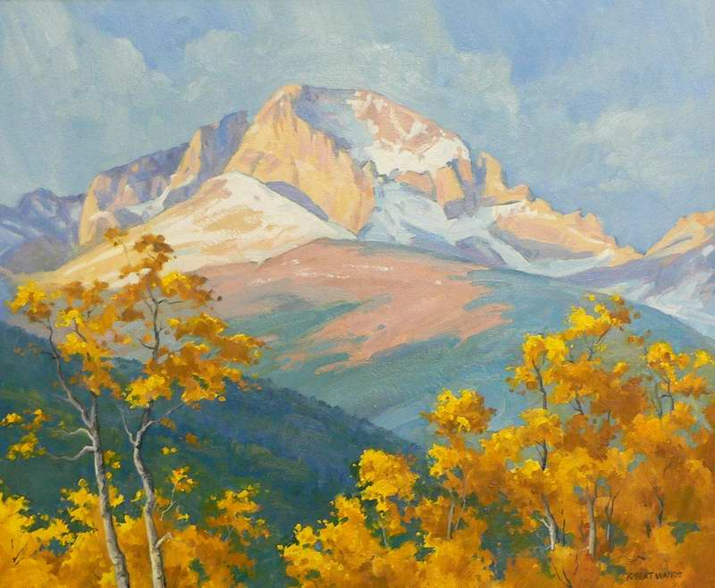 Early Snow on Longs 20x24 oil $1400