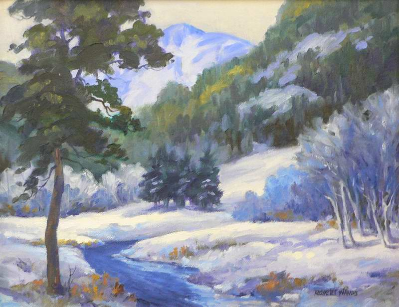Fresh Snow 9x12 oil $650