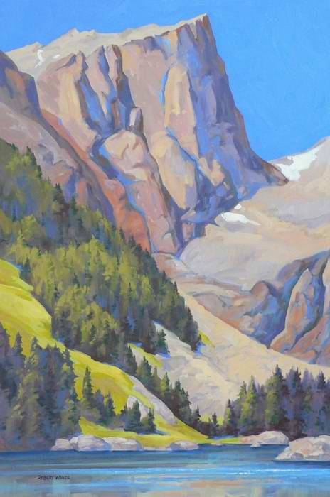 Hallett Peak and Dream Lake 36x24 oil $2250