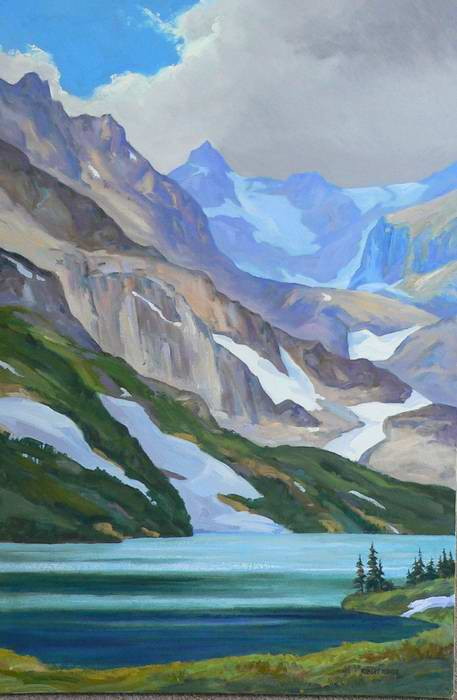 Isabelle Lake 36x24 oil $2250