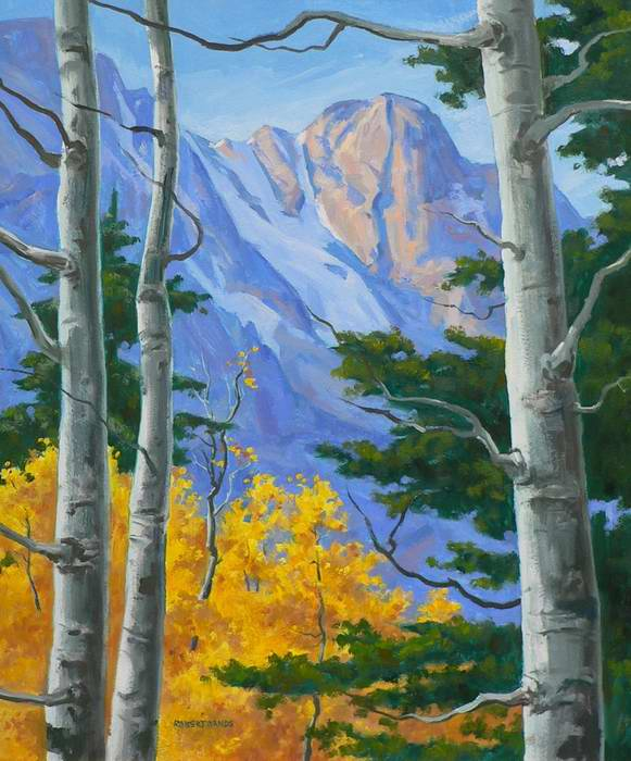On the Trail to Flattop 20x16 oil $1200