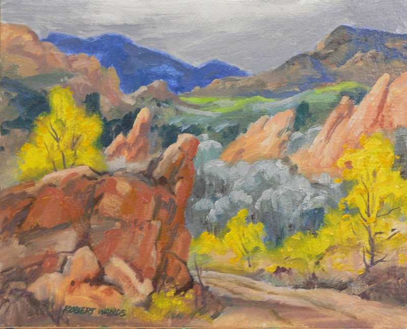 Red Rock Open Space 8x10 oil $500