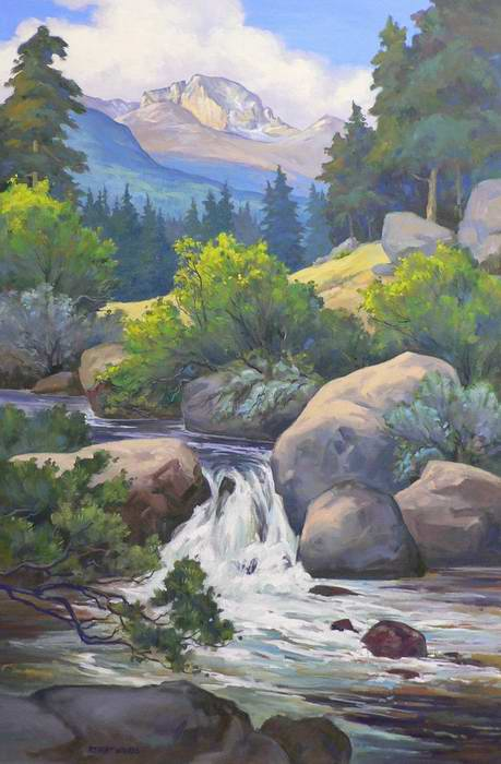 Stream with Longs 36x24 oil  $2250