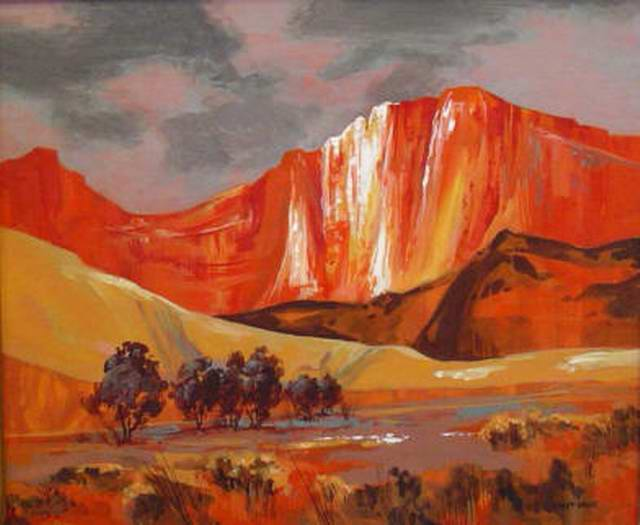 Valley of the Red Cliff 24x36 Acrylic $1,200