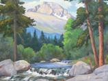 Longs & Thompson River, 24x36 oil  SOLD